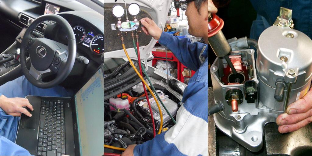 車内のエアコン環境を専門の目が分析イメージ